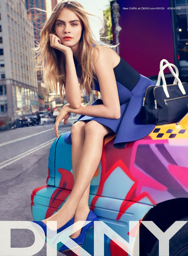 dkny spring 2014 campaign 2 Cara Delevingne, Jourdan Dunn + Eliza Cummings for DKNY Spring 2014 Ads