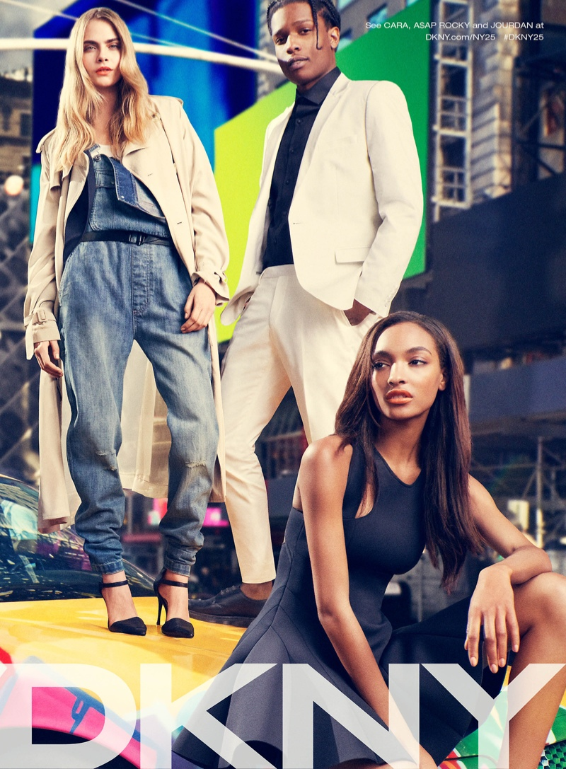 dkny spring 2014 campaign 3 Cara Delevingne, Jourdan Dunn + Eliza Cummings for DKNY Spring 2014 Ads