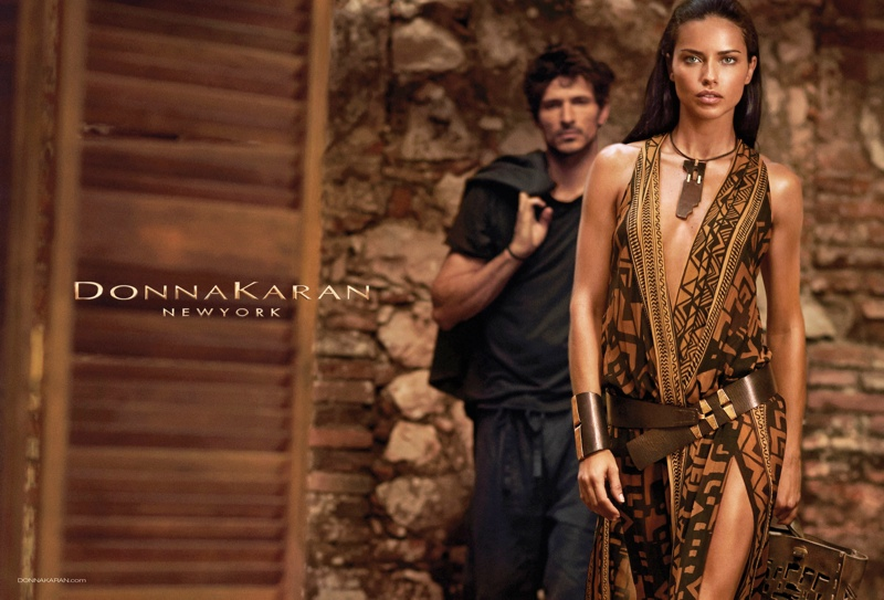donna karan spring 2014 campaign3 Adriana Lima Fronts Donna Karan Spring/Summer 2014 Campaign