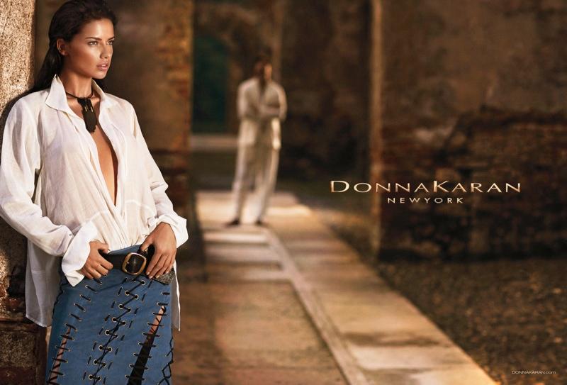 donna karan spring 2014 campaign5 Adriana Lima Fronts Donna Karan Spring/Summer 2014 Campaign