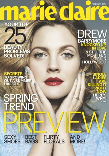 "Drew Barrymore Covers Marie Claire, Calls Herself a ""Prude"""