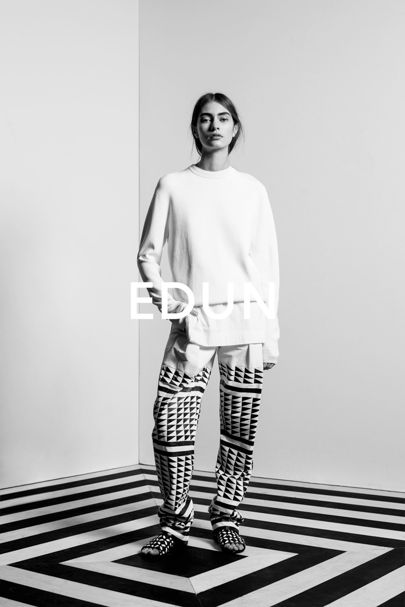 Marine Deeleuw Stars in the Edun Spring/Summer 2014 Campaign