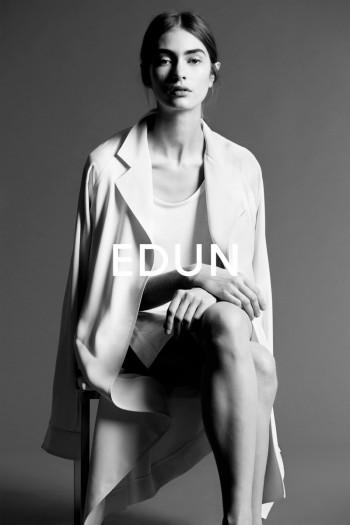 Marine Deeleuw Stars in the Edun Spring/Summer 2014 Campaign