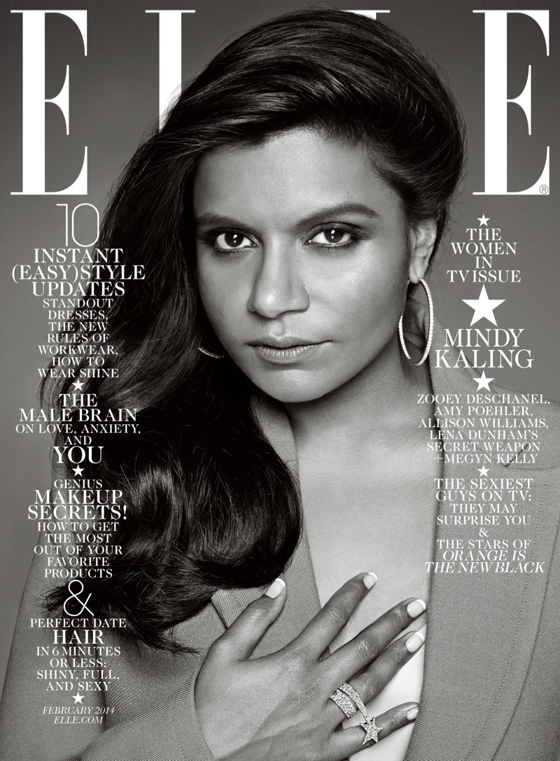 elle february cover3 Zooey Deschanel, Mindy Kaling, Amy Poehler & Allison Williams Cover ELLE February 2014