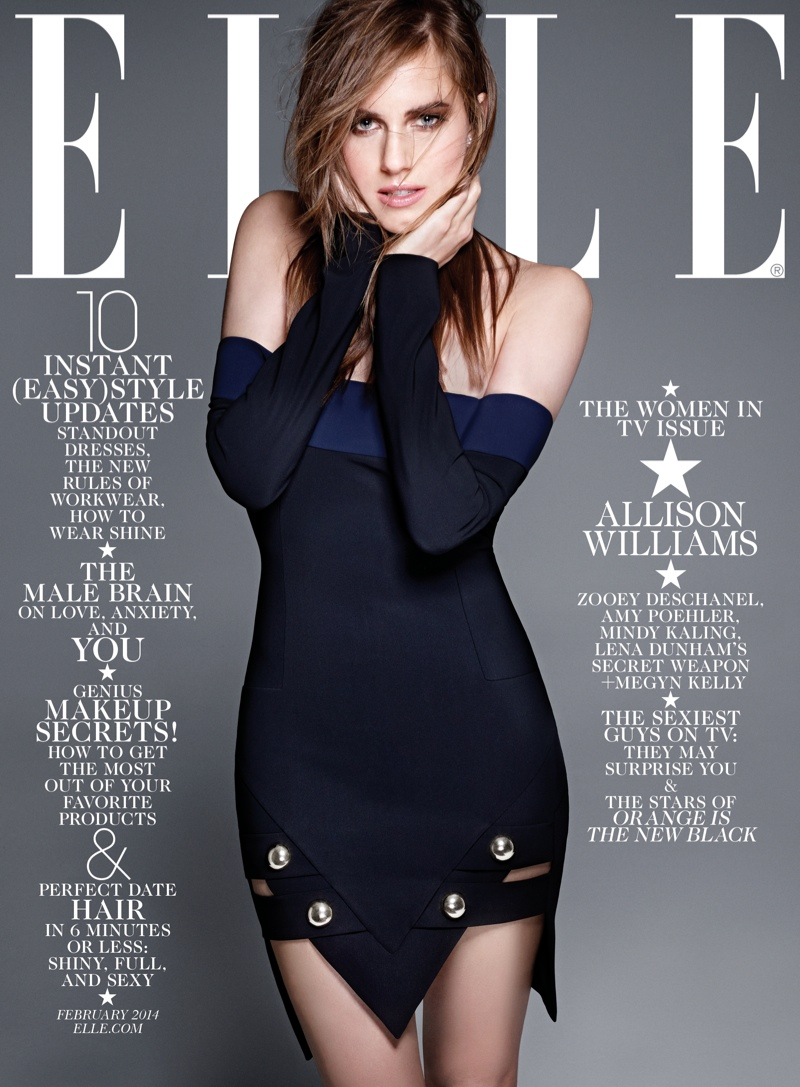 elle february cover4 Zooey Deschanel, Mindy Kaling, Amy Poehler & Allison Williams Cover ELLE February 2014