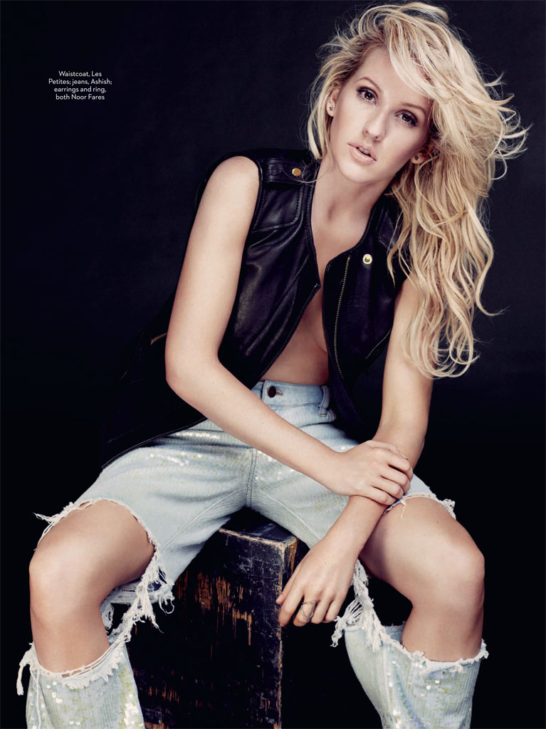 Ellie Goulding Poses for David Roemer in Marie Claire UK February 2014
