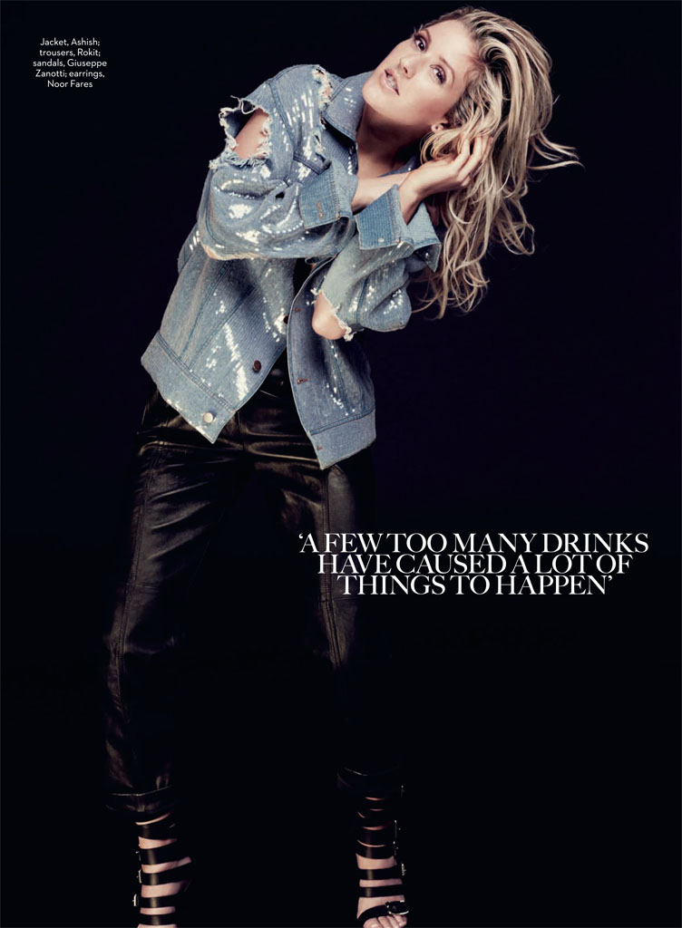 ellie goulding5 Ellie Goulding Poses for David Roemer in Marie Claire UK February 2014