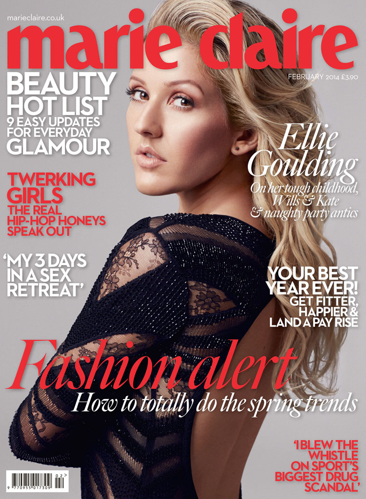 ellie goulding6 Ellie Goulding Poses for David Roemer in Marie Claire UK February 2014