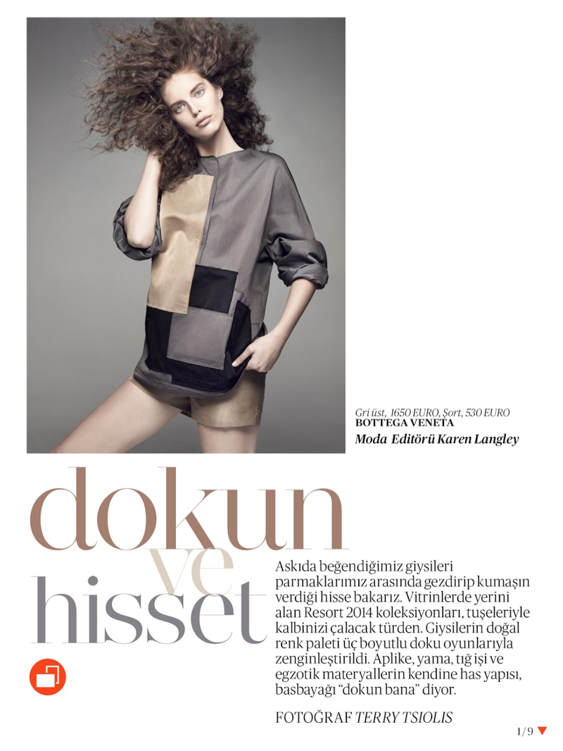 emily didonato hair1 Emily DiDonato Gets Glam for Terry Tsiolis in Vogue Turkey Shoot