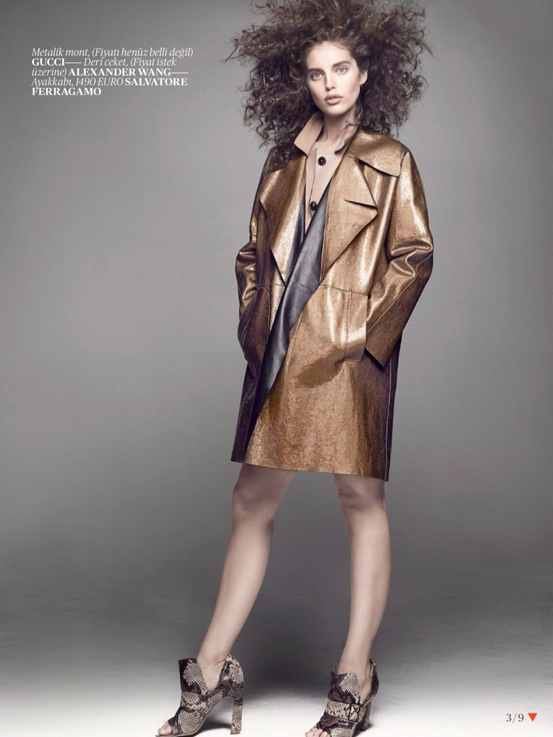 emily didonato hair3 Emily DiDonato Gets Glam for Terry Tsiolis in Vogue Turkey Shoot