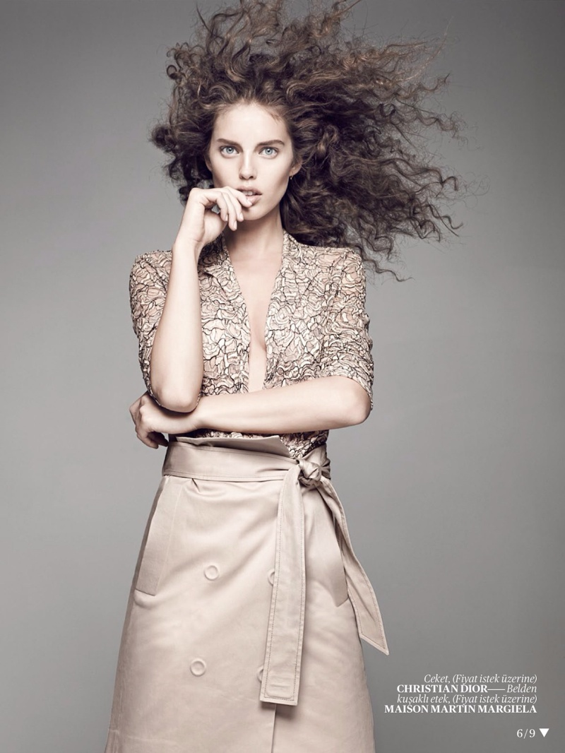 emily didonato hair6 Emily DiDonato Gets Glam for Terry Tsiolis in Vogue Turkey Shoot