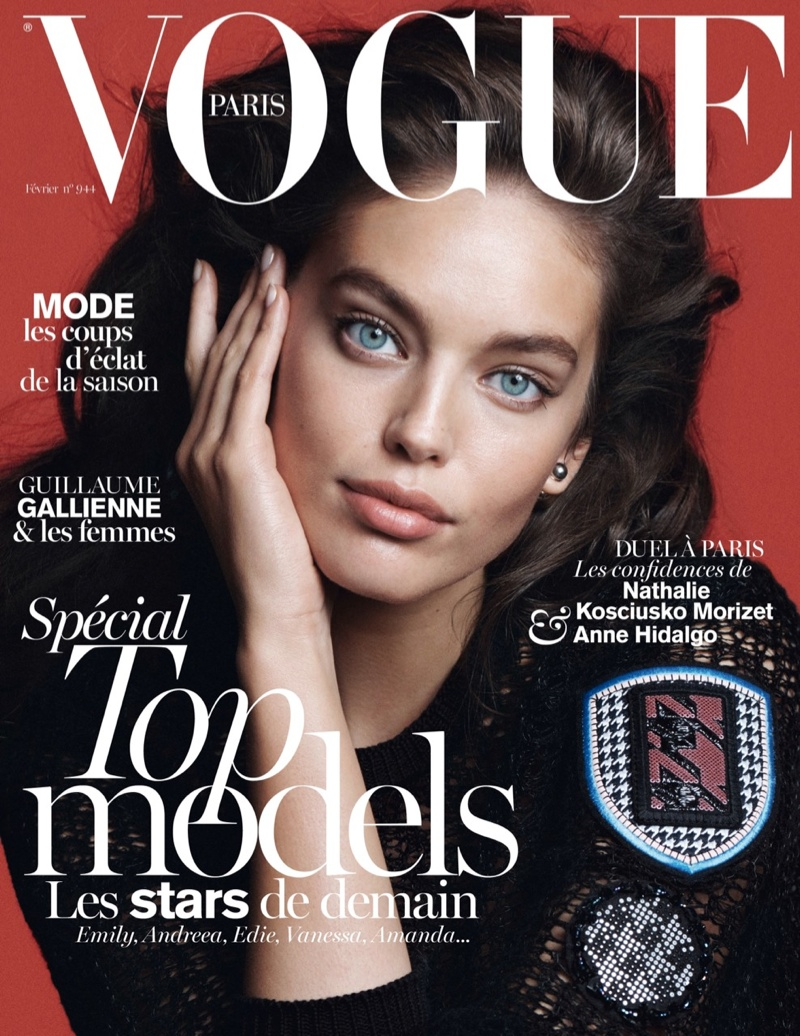 emily vogue paris cover Emily DiDonato Graces Vogue Paris February 2014 Cover