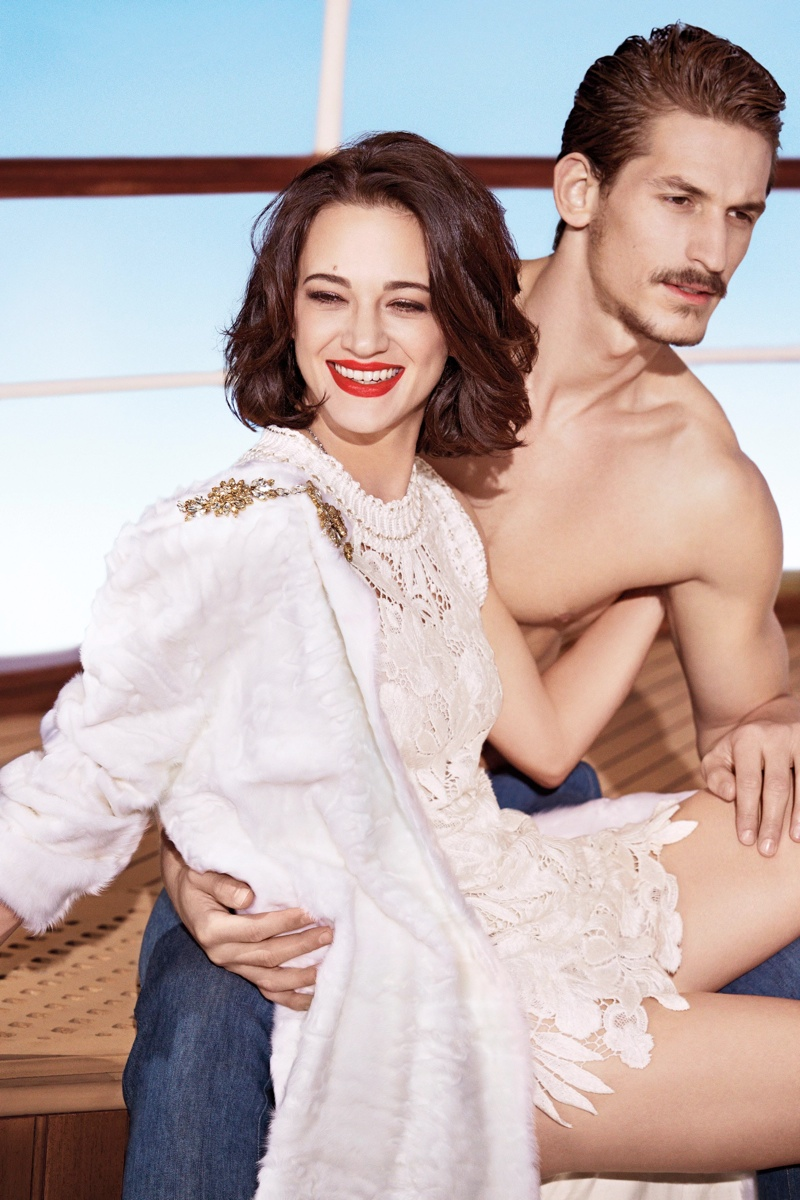 Asia Argento Fronts Ermanno Scervino Spring/Summer 2014 Campaign