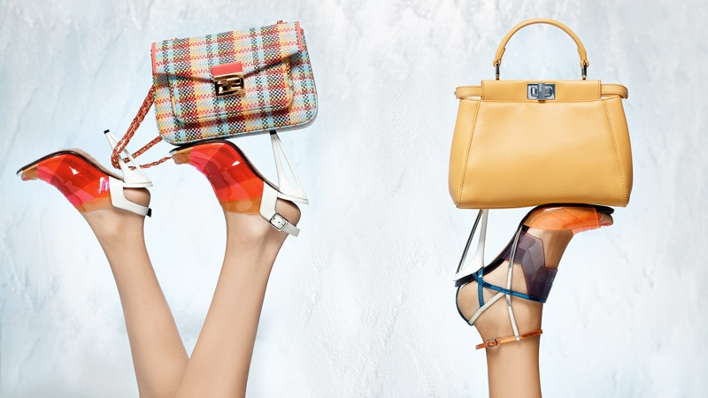 fendi spring 2014 campaign16 Nadja Bender + Joan Smalls Star in Fendi Spring 2014 Ads