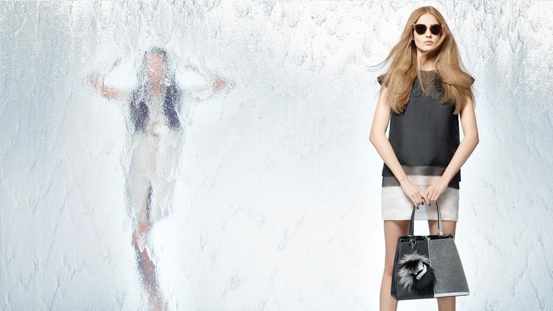 Nadja Bender + Joan Smalls Star in Fendi Spring 2014 Ads