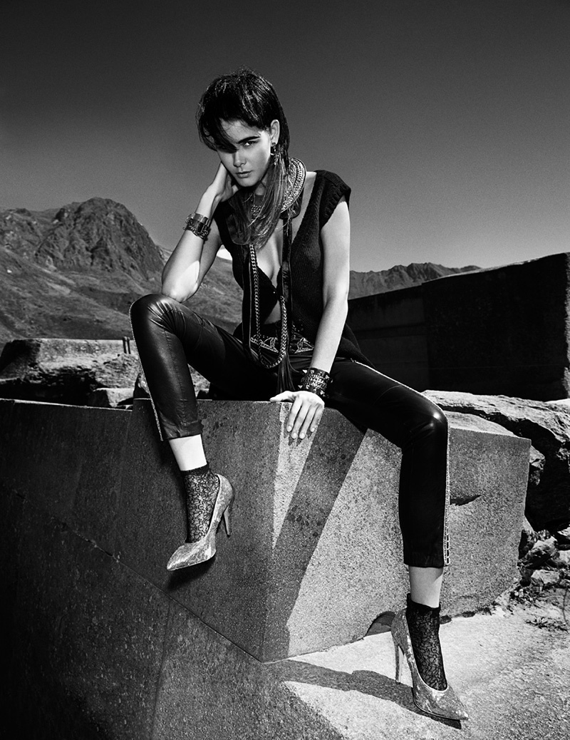 flavia punk shoot4 Flavia de Oliveira Rocks in Woman Madame Figaro by Richard Ramos