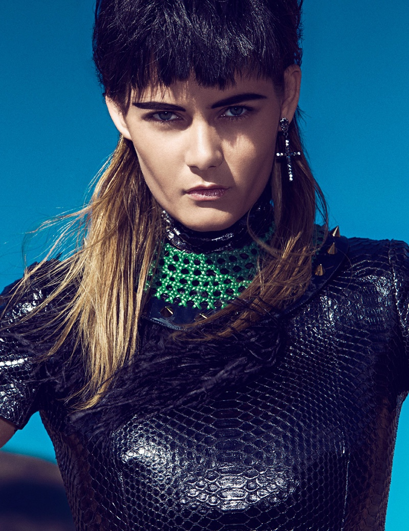 flavia punk shoot7 Flavia de Oliveira Rocks in Woman Madame Figaro by Richard Ramos