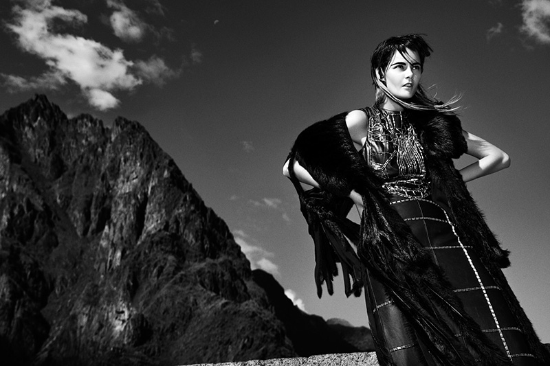 flavia punk shoot8 Flavia de Oliveira Rocks in Woman Madame Figaro by Richard Ramos