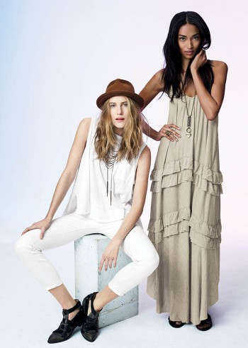 Dree Hemingway + Anais Mali Model for Free People's February Catalog