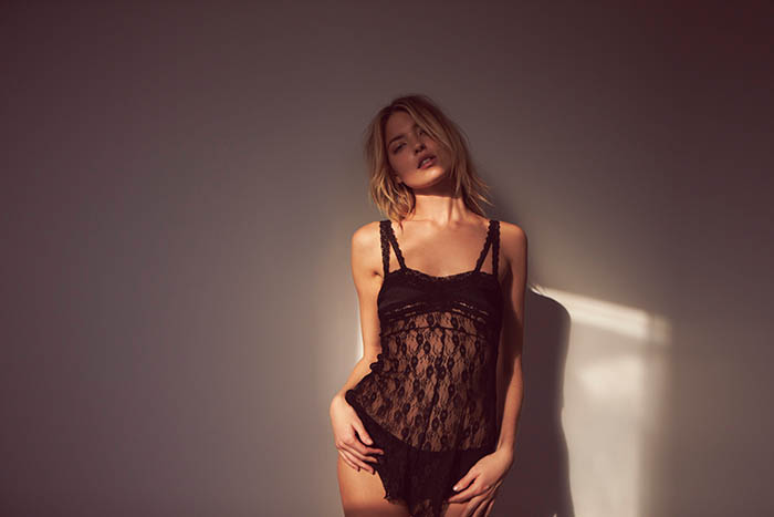 Martha Hunt Poses for Free People Valentine's Day Shoot