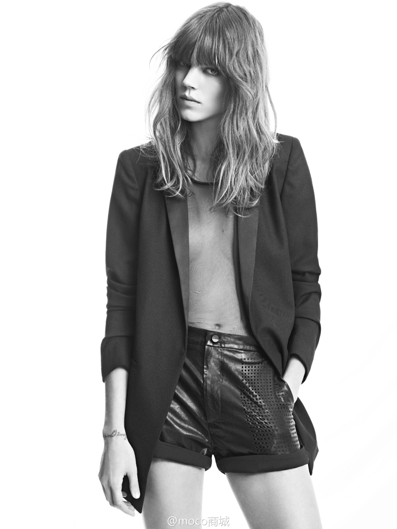 freja beha moco campaign6 Freja Beha Erichsen Returns for MO&Co. Spring/Summer 2014 Campaign