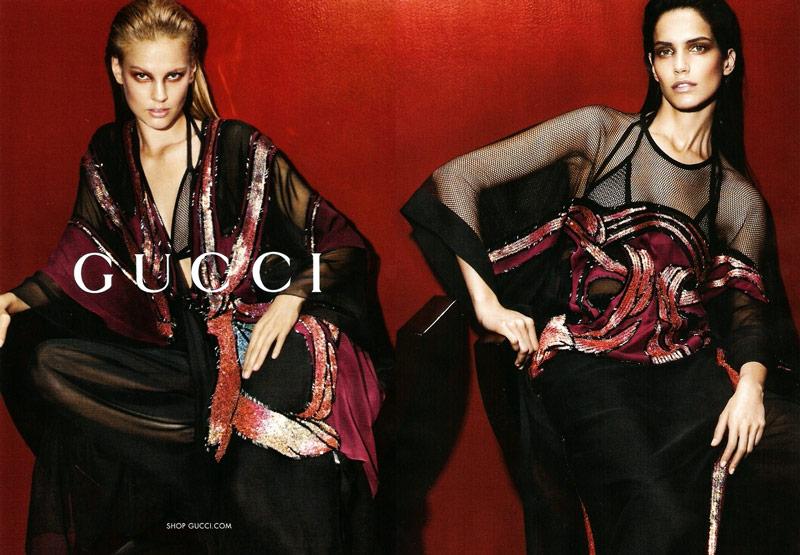 gucci spring summer campaign1 Amanda Wellsh + Elisabeth Erm for Gucci Spring/Summer 2014 Campaign