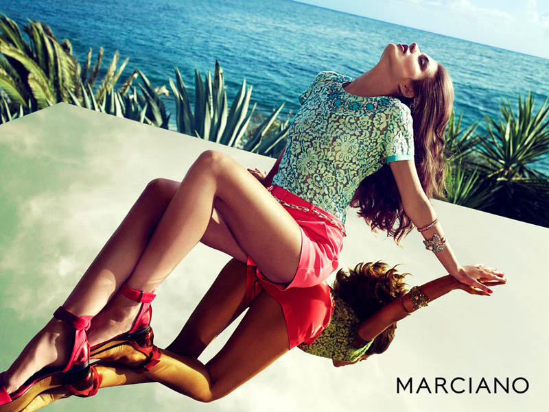 guess marciano spring 2014 campaign8 Clara Alonso & Heather Depriest Front Guess by Marciano Spring 2014 Ads by Hunter & Gatti