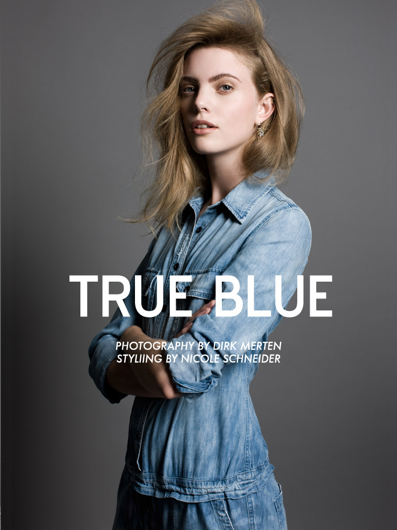 "Hanne Bruning by Dirk Merten in ""True Blue"" for Fashion Gone Rogue"