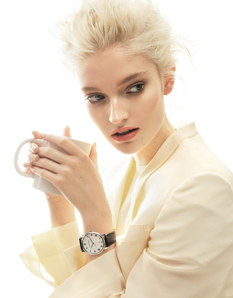 helena greyhorse model5 Helena Greyhorse Models Timepieces for Interview Russia by Nikolay Biryukov