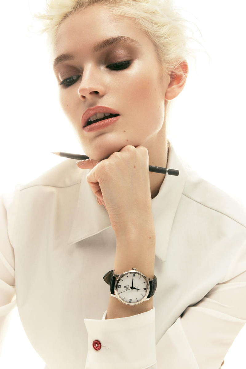 helena greyhorse model7 Helena Greyhorse Models Timepieces for Interview Russia by Nikolay Biryukov