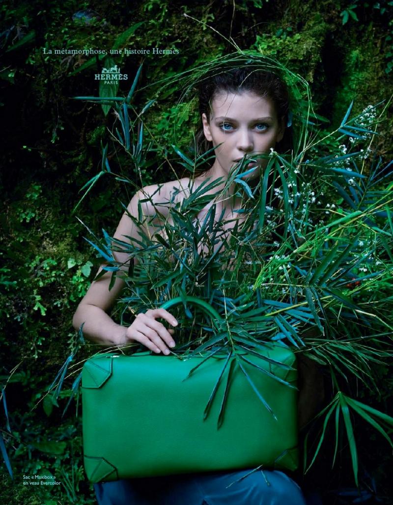 Diana Moldovan & Yumi Lambert Star in Hermès Spring/Summer 2014 Campaign