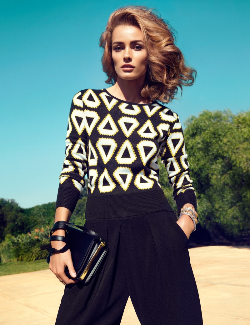 hm key pieces6 Edita Vilkeviciute Wears H&Ms Key Pieces for Spring