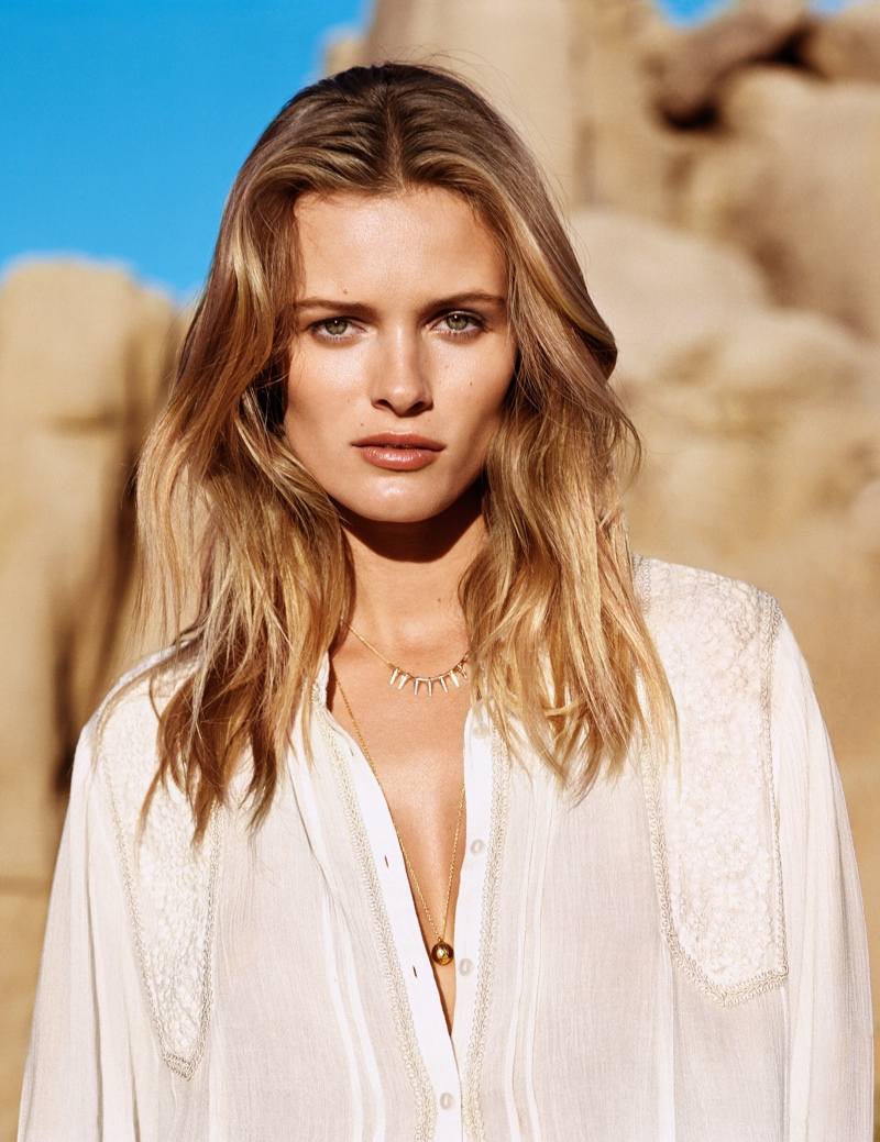 hm spring looks1 Edita Vilkeviciute Wears Spring Looks for H&M