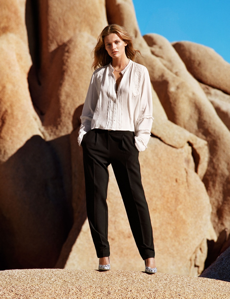 hm spring looks2 Edita Vilkeviciute Wears Spring Looks for H&M