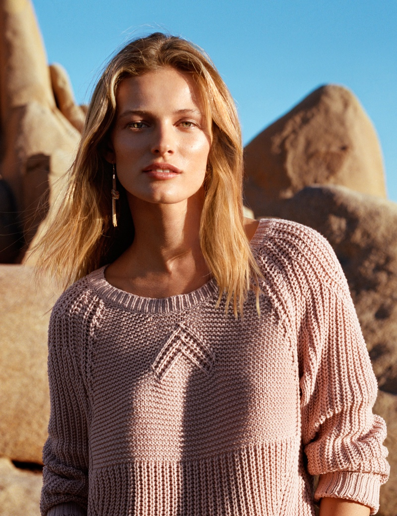 Edita Vilkeviciute Wears Spring Looks for H&M
