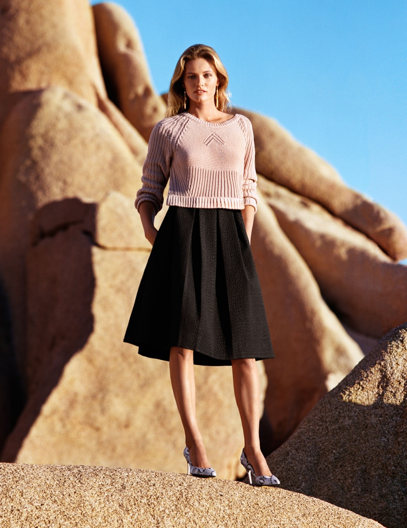 hm spring looks4 Edita Vilkeviciute Wears Spring Looks for H&M