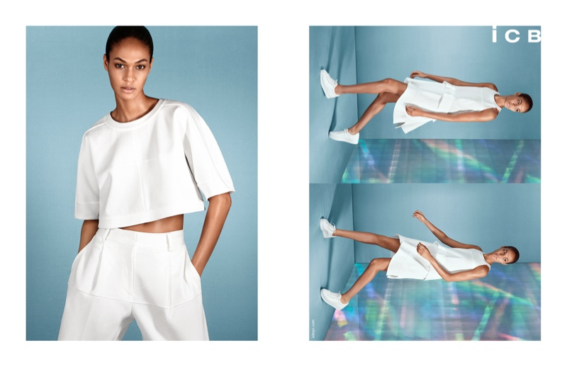 icb spring 2014 campaign1 Joan Smalls Poses for iCB Spring/Summer 2014 Campaign