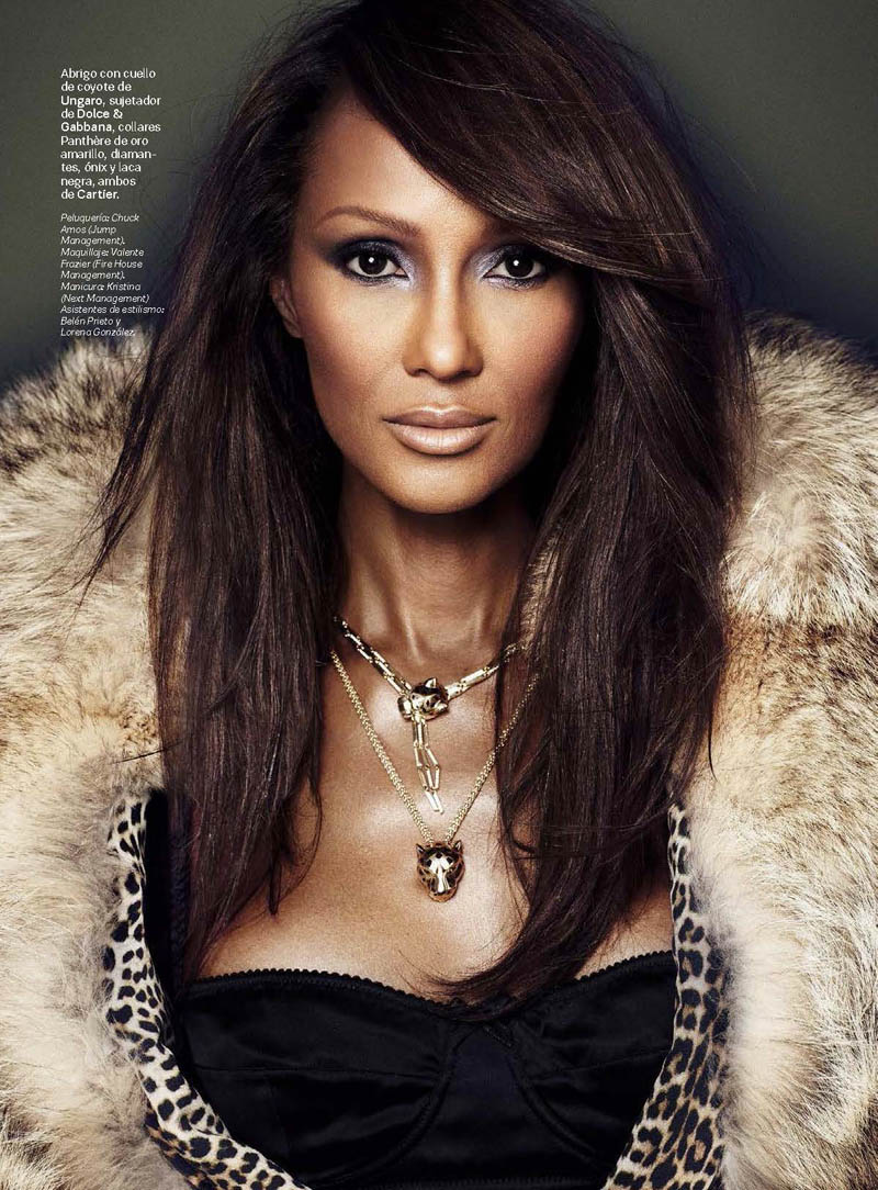 iman photo shoot 2014 4 Iman Stuns for Max Abadian in S Moda Cover Shoot