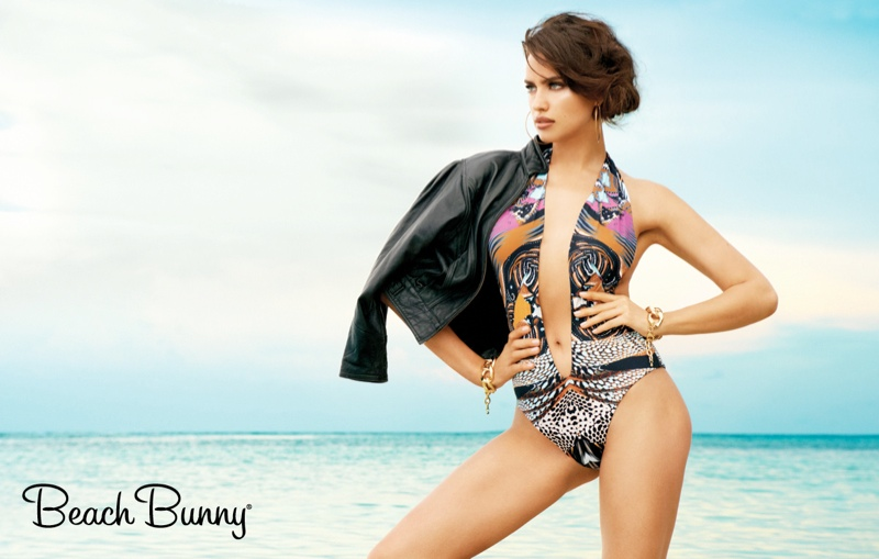 irina shayk beach bunny spring 2014 1 Irina Shayk Stars in Beach Bunny Spring 2014 Campaign