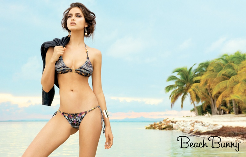 irina shayk beach bunny spring 2014 4 Irina Shayk Stars in Beach Bunny Spring 2014 Campaign