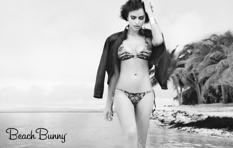 irina shayk beach bunny spring 2014 5 Irina Shayk Stars in Beach Bunny Spring 2014 Campaign