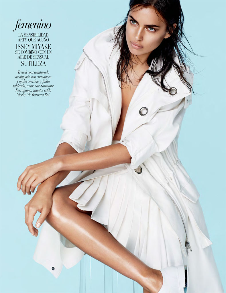Irina Shayk Models Sleek Style for Vogue Mexico by David Roemer