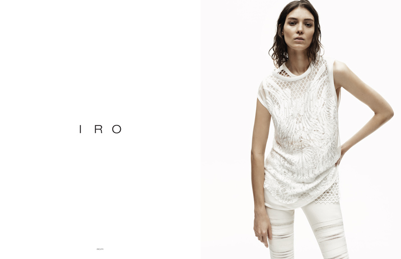Exclusive: Kati Nescher in IRO's Spring/Summer 2014 Campaign