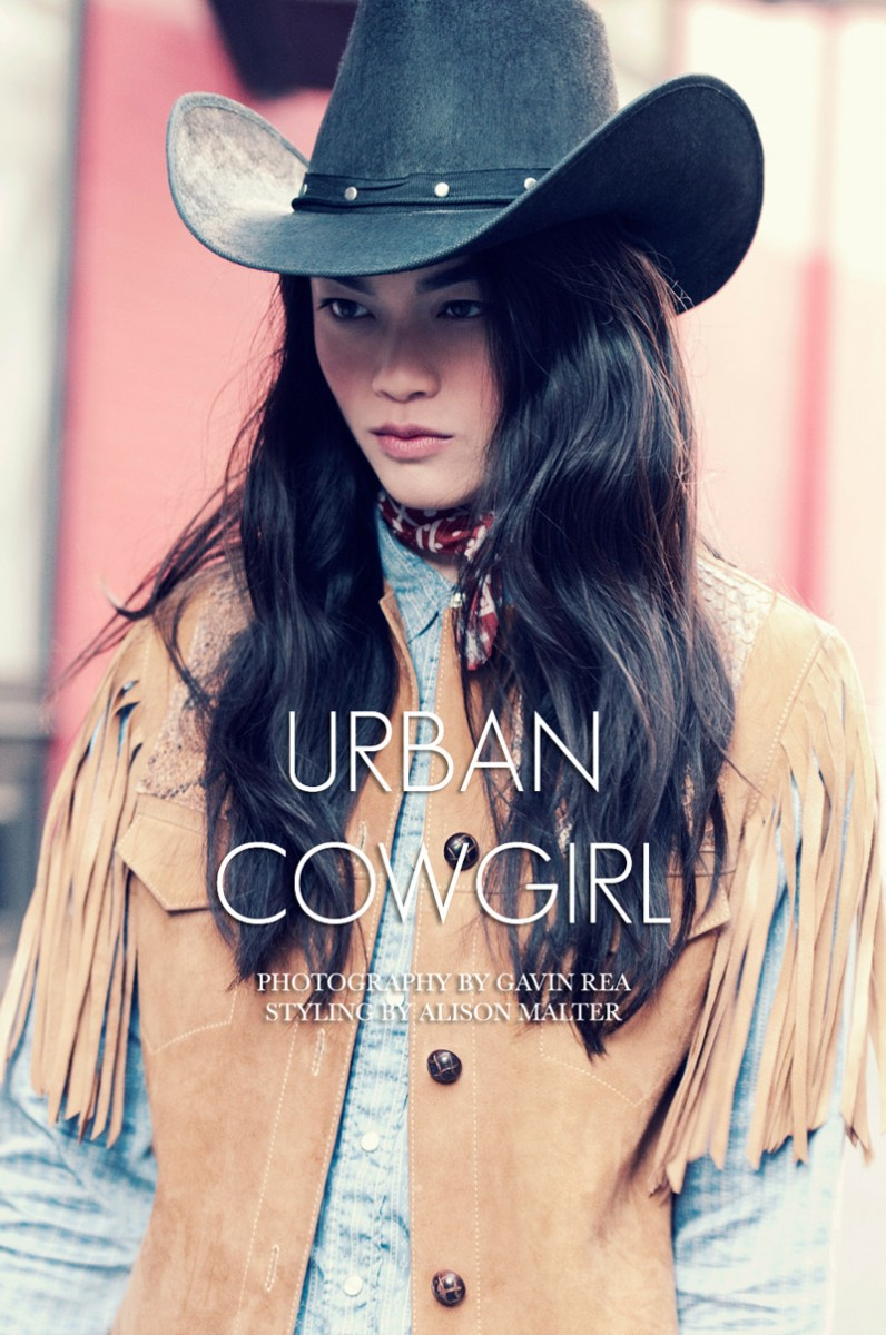 jen dau cowgirl 796x1200 Jen Dau by Gavin Rea in Urban Cowgirl for Fashion Gone Rogue