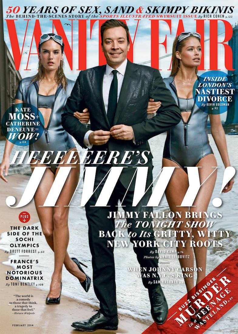 Alessandra Ambrosio + Doutzen Kroes Join Jimmy Fallon on Vanity Fair Cover