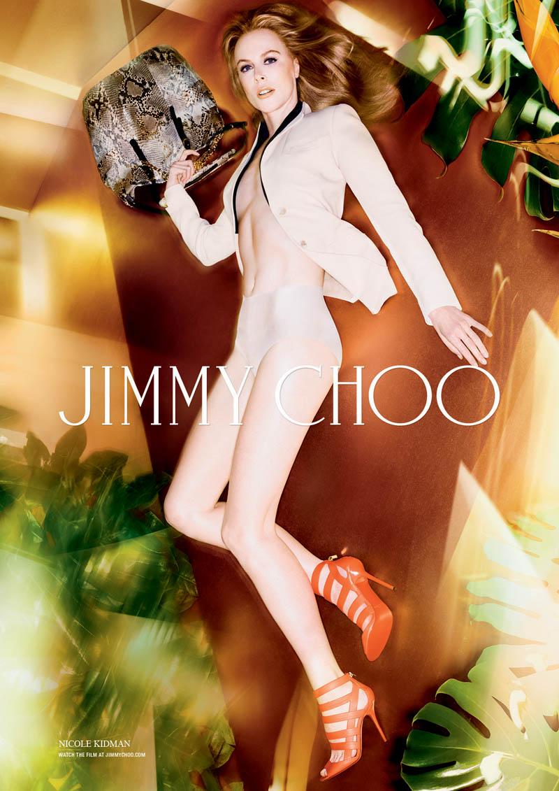 jimmy choo nicole kidman spring campaign1 Nicole Kidman Gets Leggy for Jimmy Choo Spring/Summer 2014 Campaign