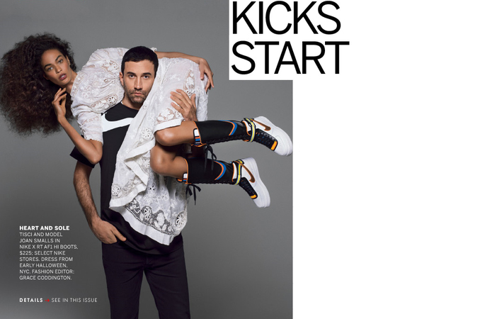 Joan Smalls with Riccardo Tisci for Vogue / Courtesy of IMG Models