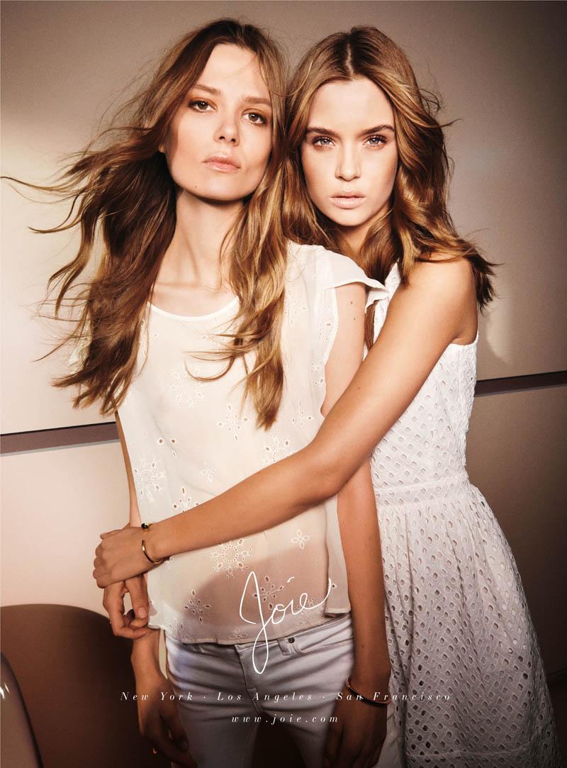 joie spring 2014 campaign1 Caroline Brasch Nielsen + Josephine Skriver Front Joie Spring/Summer 2014 Campaign