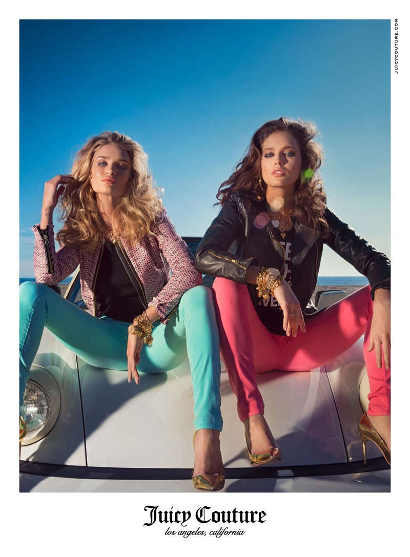 juicy couture spring 2014 campaign11 Rosie Huntington Whiteley & Emily DiDonato Land Juicy Couture Spring/Summer 2014 Campaign