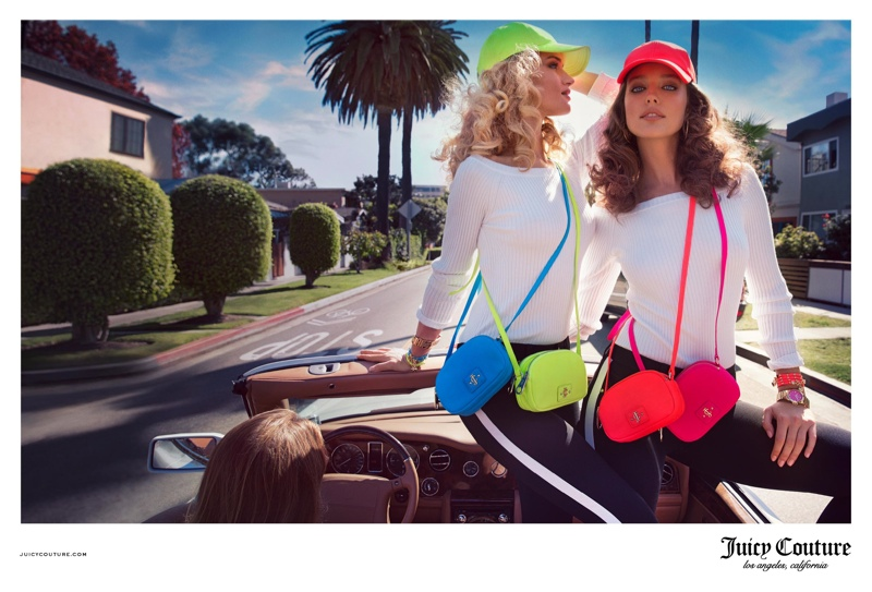 juicy couture spring 2014 campaign3 Rosie Huntington Whiteley & Emily DiDonato Land Juicy Couture Spring/Summer 2014 Campaign